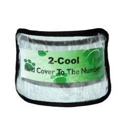 Nummerholder til arm i klar plast, sort kant, justeret med spænde.